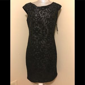NWT Cartise Black evening party dress size 8
